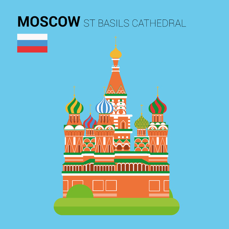 basil's: Monuments and landmarks Vector Collection: St Basils Cathedral.