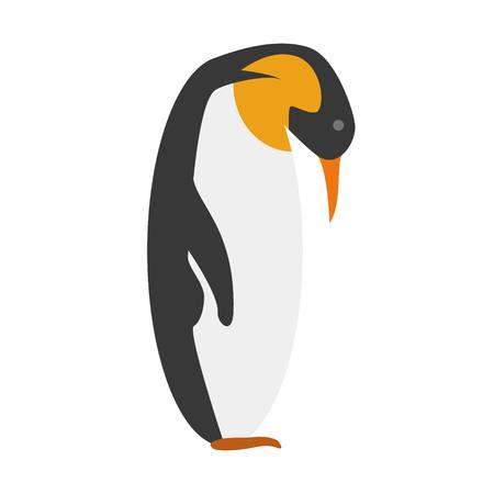 Emperor penguin cartoon cute vector illustration