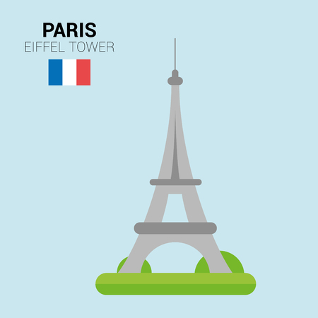 Monuments and landmarks Vector Collection: Eiffel Tower.