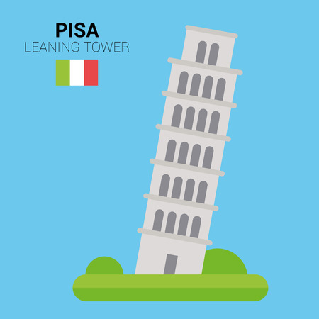 Monuments and landmarks Vector Collection: Leaning Tower of Pisa.