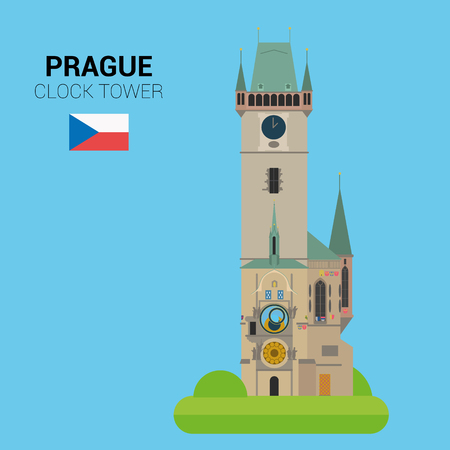 Monuments and landmarks Vector Collection: Astronomical Clock Tower.