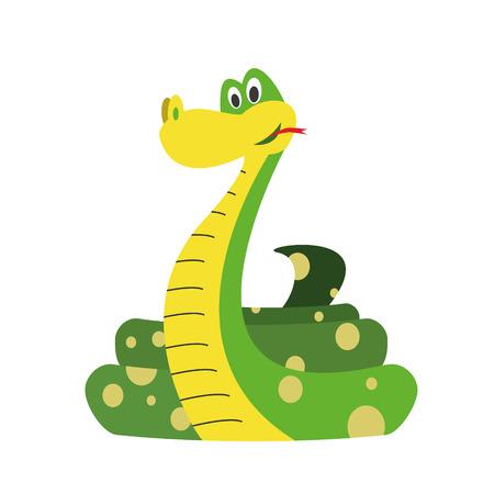 Cute cartoon snake vector illustration Illustration