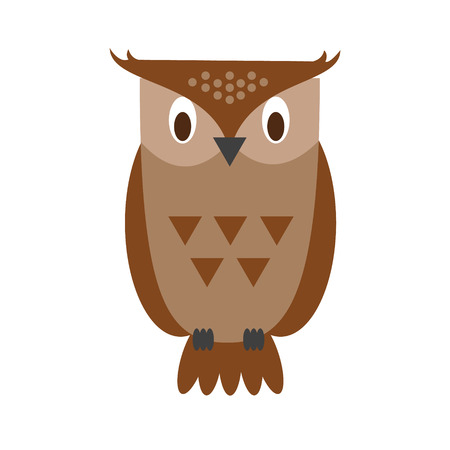 Cute cartoon owl vector illustration Illustration