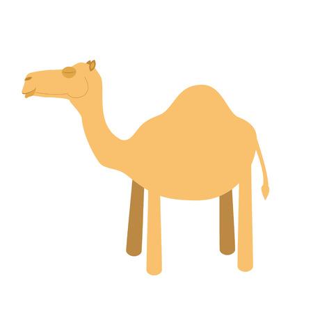 hump: Cute cartoon camel vector illustration