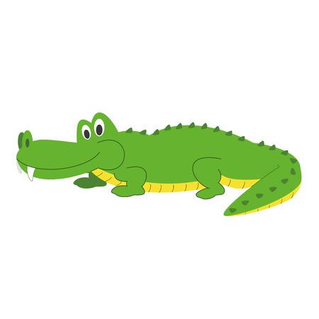 Cute cartoon alligator vector illustration Illustration