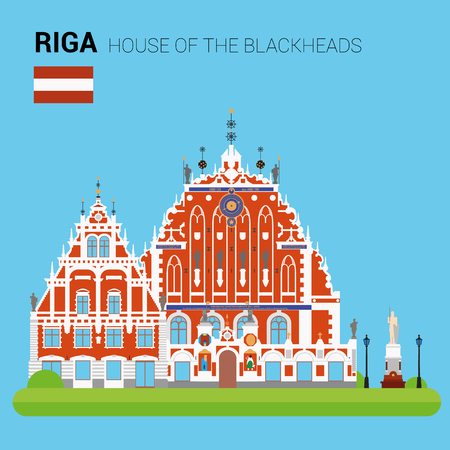 Monuments and landmarks Vector Collection: House of the Blackheads.