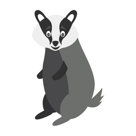 Cute cartoon badger vector illustration Illustration