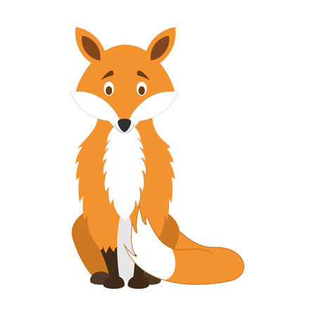 Cute cartoon fox vector illustration