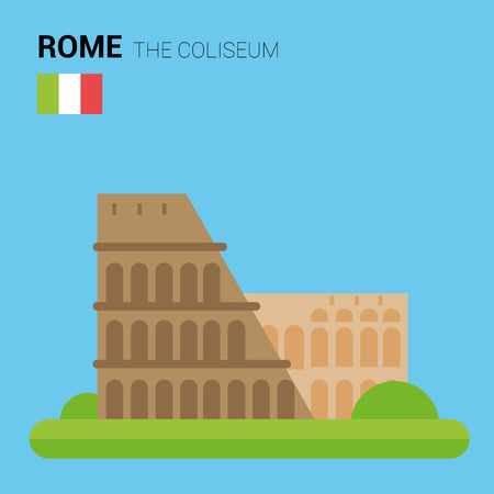 point of interest: Monuments and landmarks Vector Collection: The Coliseum.