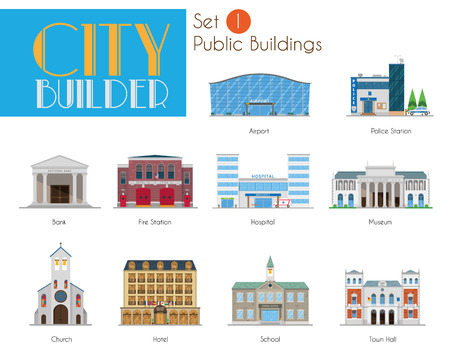 市ビルダー セット 1: 公共および市民建築物