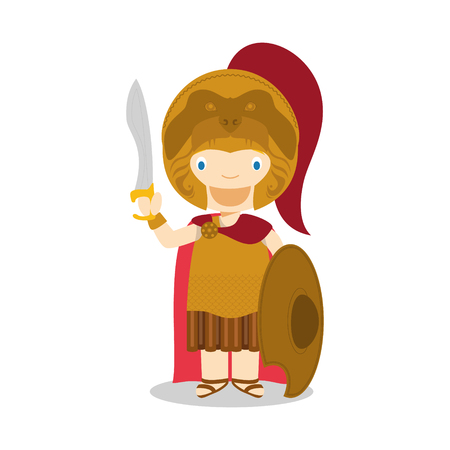 diversity of the region: Alexander The Great cartoon character