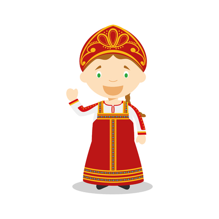 Character from Russia dressed in the traditional way Illustration Illustration