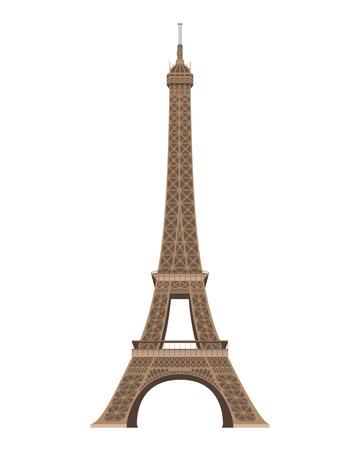 Eiffel Tower, Paris, France. Isolated on white background vector illustration. Illustration