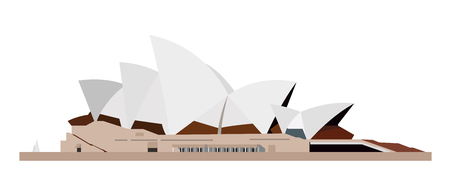 Opera, Sidney, Australia. Isolated on white background vector illustration. Illustration