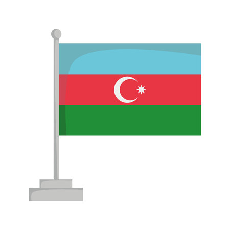 National flag of Azerbaiyan Vector Illustration
