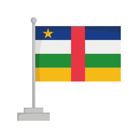 National flag of Central African Republic Vector Illustration Çizim