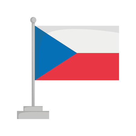 National flag of Czech Republic Vector Illustration