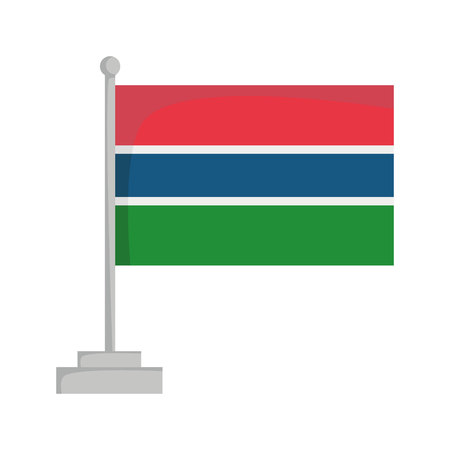 National flag of Gambia Vector Illustration Çizim