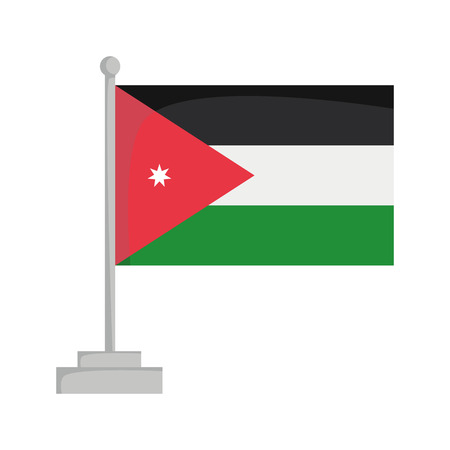 National flag of Jordan Vector Illustration