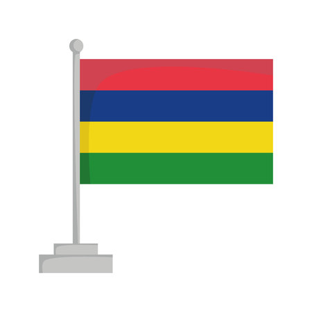 National flag of Mauritius Vector Illustration