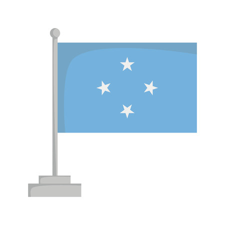 National flag of Micronesia Vector Illustration Çizim