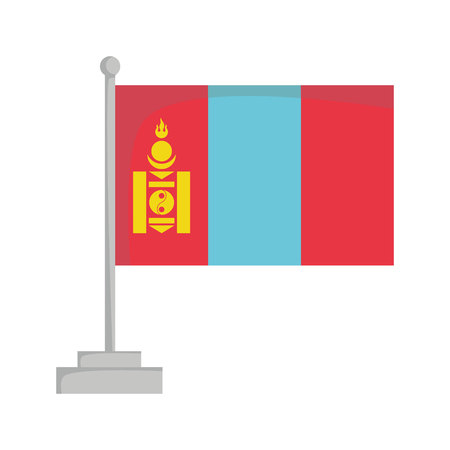 National flag of Mongolia Vector Illustration