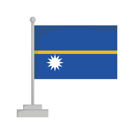 National flag of Nauru Vector Illustration