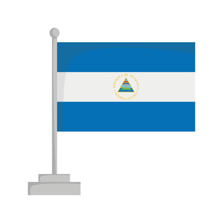 National flag of Nicaragua Vector Illustration Stok Fotoğraf - 93249304