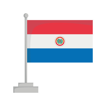 National flag of Paraguay Vector Illustration Çizim