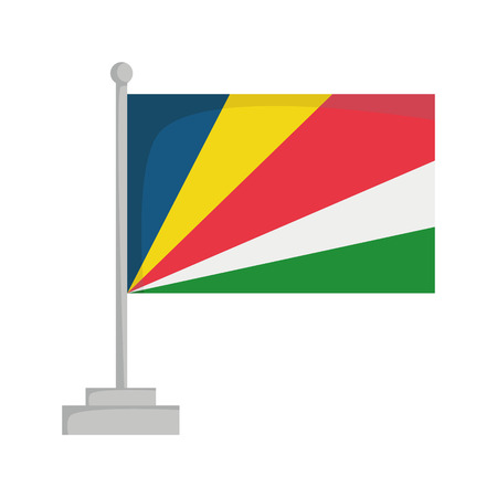 National flag of Seychelles Vector Illustration
