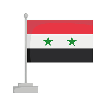 National flag of Syria Vector Illustration Stok Fotoğraf - 93249398