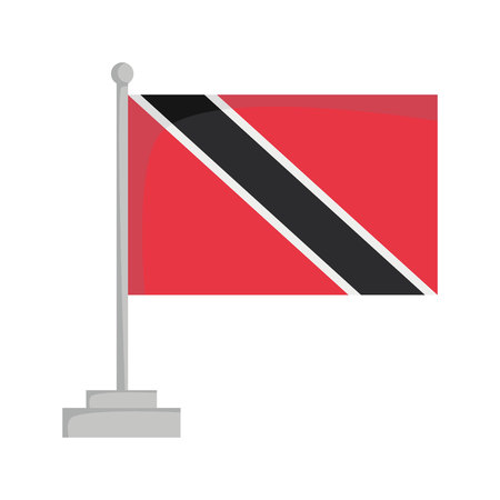 National flag of Trinidad and Tobago Vector Illustration