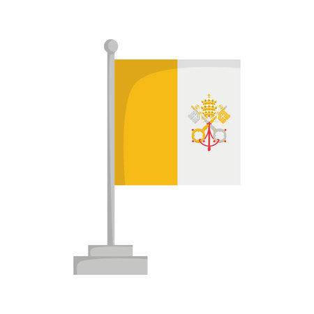 National flag of Vatican City Vector Illustration Çizim
