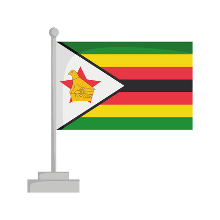 National flag of Zimbabwe Vector Illustration