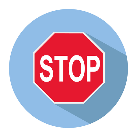 Icon of a STOP sign in flat style. Vector illustration. Reklamní fotografie - 103179521