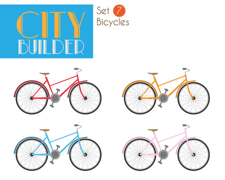 City Builder Set 7: Bicycles Illustration