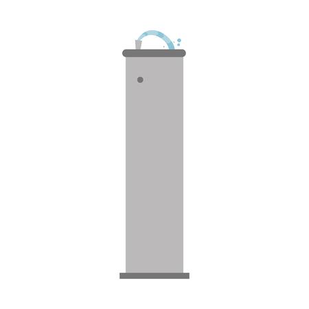 Illustration de vecteur de dessin animé mignon d'une fontaine à boire