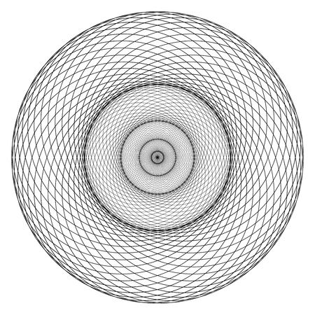 Geometrical figure. Sacred Geometry Torus Yantra or Hypnotic Eye development vector illustration