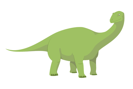 Diplodocus vector illustration isolated in white background. Dinosaurs Collection.