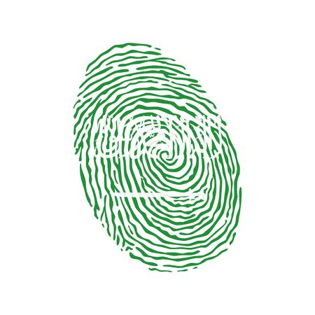 Fingerprint vector colored with the national flag of Saudi Arabia