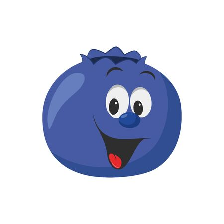 Fruits Characters Collection: Vector illustration of a funny and smiling cranberry character.
