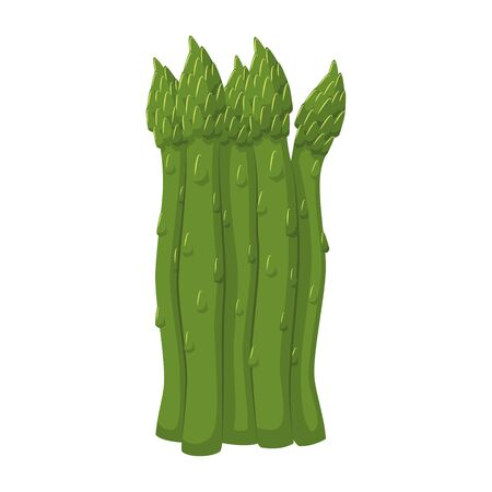 Vector illustration of a funny asparagus in cartoon style. 일러스트