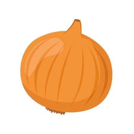 Vector illustration of a funny onion in cartoon style.