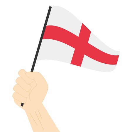 Hand holding and rising the maritime flag to represent the number Eight Vector Illustration