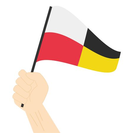 Hand holding and rising the maritime flag to represent the number Nine Vector Illustration Illusztráció