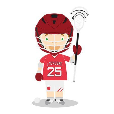 Sports cartoon vector illustrations: Lacrosse Illustration