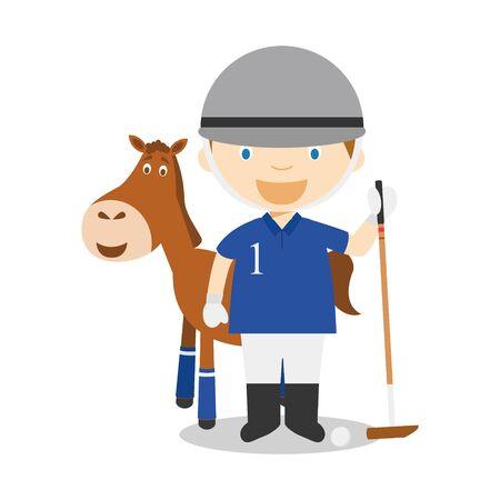Sports cartoon vector illustrations: Polo Illustration