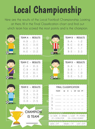 Local championship Educational Sheet. Primary module for Numerical Ability. 5-6 years old. Educational Sheets Series