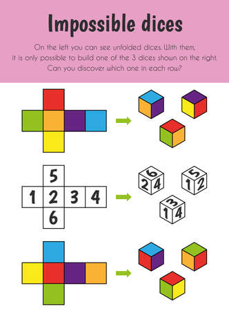Impossible you say Educational Sheet. Primary module for Logic Reasoning. 5-6 years old. Educational Sheets Series