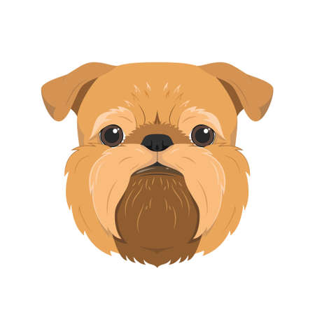 Brussels Griffon dog isolated on white background vector illustration Векторная Иллюстрация